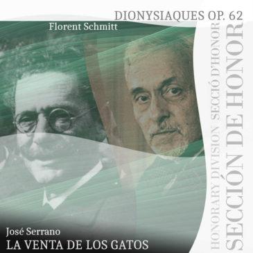 La Sección de Honor interpretará obras de Florent Schmitt y José Serrano